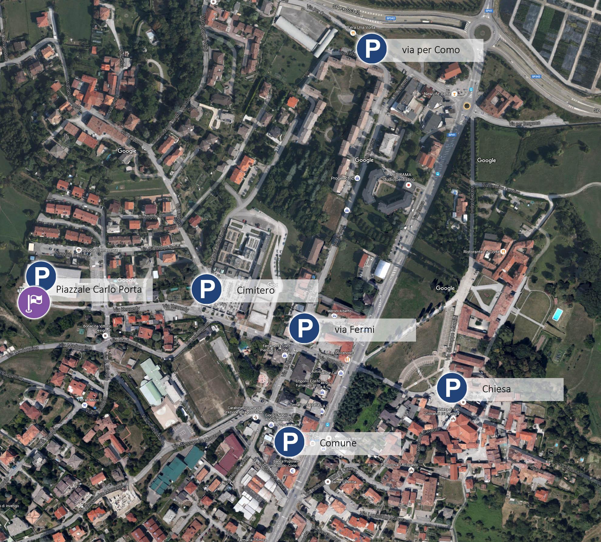 mappa lurago
